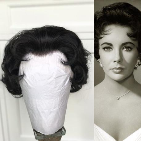 Elizabeth Taylor copy wig for a female impersonator