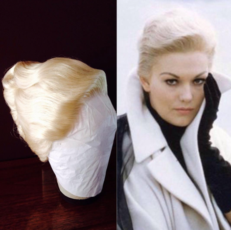 Kim Novak copy wig for a female impersonator