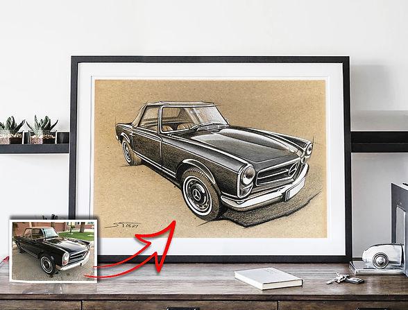 Mercedes SL sketch A4