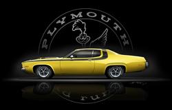 Plymouth Road Runner 73 mit Emblem