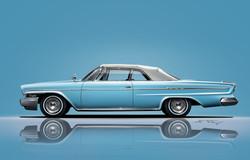 Chrysler Newport 1962 blue Background