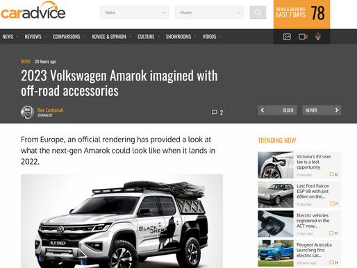 """Australisches Magazin """"CarAdvice"""" hat einen Artikel über meine Version des VW Amarok veröffentlicht"""