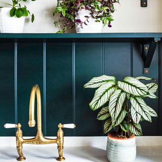 Green paneling with plants