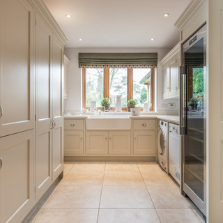 Modern country shaker style utility room
