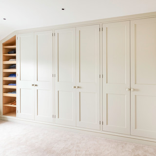 Fitted wardrobes spray finshed