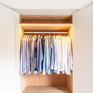 Wardrobe with oak internal