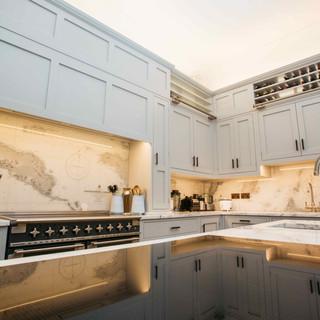 Grey Hand Painted Kitchen