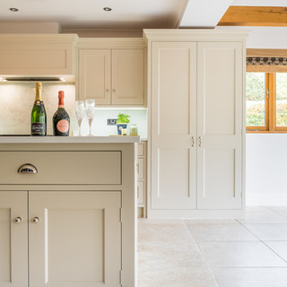 Shaker style kitchen with island