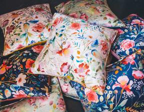 The English Garden Velvet Cushion Collec