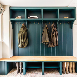 Coat hook and boot bench