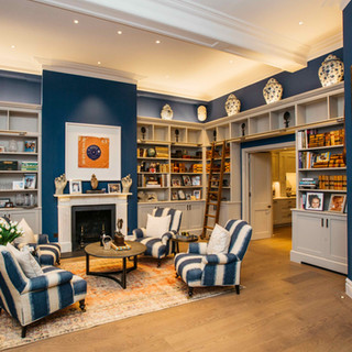 Fitted Bespoke Library Hand Painted Grey