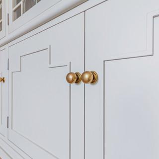 Fret work cabinet door detail