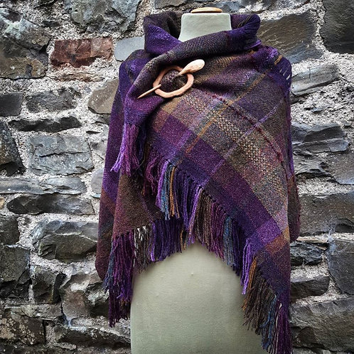 Wildflower Warmth ~ Handwoven shoulder wrap