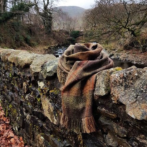 Winter Dales ~ Handwoven Shawl