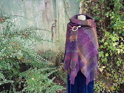 Wildflower Heart ~ handwoven Shawl