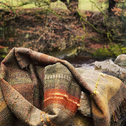 Last of the Autumn Leaves ~ Handwoven Scarf