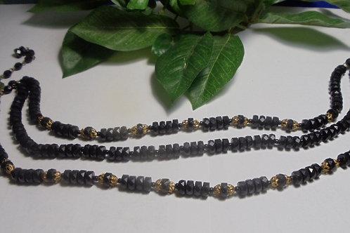 Vintage Necklace Black and Gold