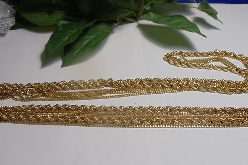 Necklace of Five Golden Strands by Monet