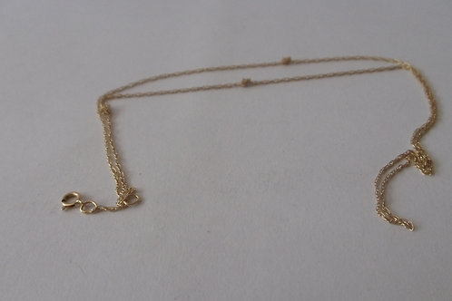 Necklace Simlpe Gold Chain with Knots