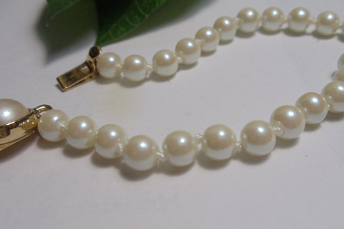 """Vintage Bracelet """"White Pearls"""" From The 1940's"""