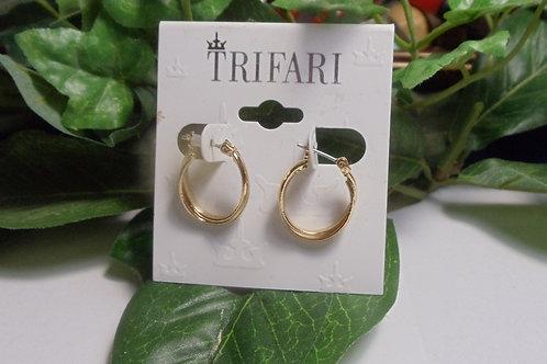 Earrings Vintage Trifari Small Hoops