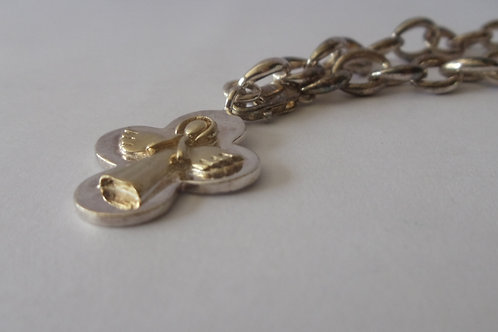 Bracelet Mens Vintage Heavy Metal Chain with an Angel Charm