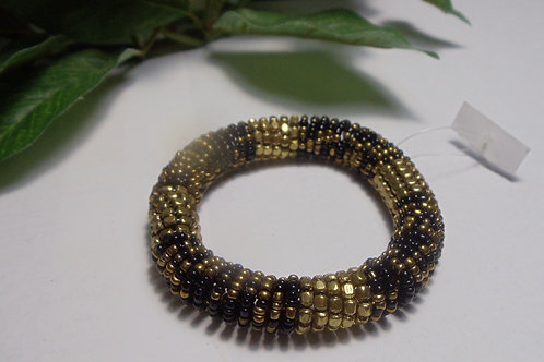 Bracelet Gold and Black Coil