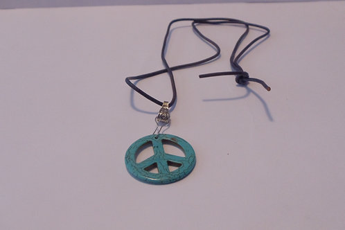 Vintage Necklace Peace Symbol From the 1960s