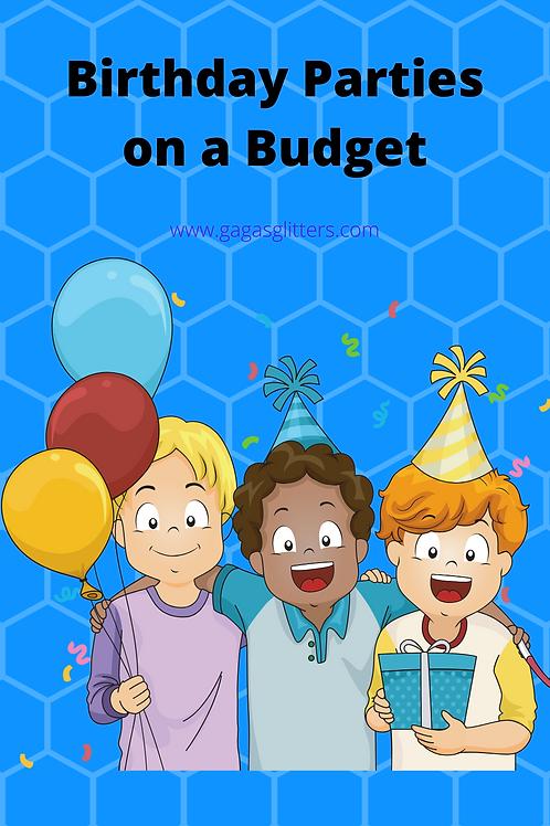 Birthdays on a Budget - Children