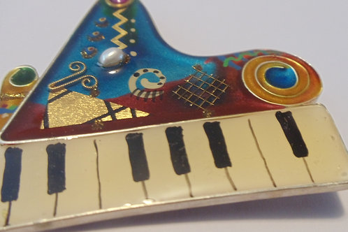 Vintage Pin of Funky Piano
