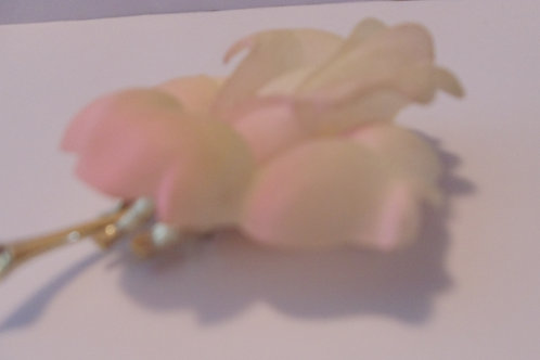 Vintage Pale Pink Rose Pin