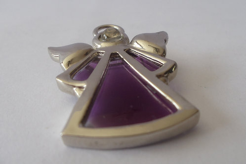 "Pin ""Angels We Have Heard On High"" Purple Stained Glass"