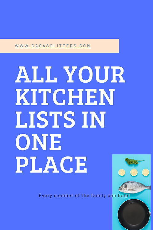 All Your Kitchen Lists in One Place