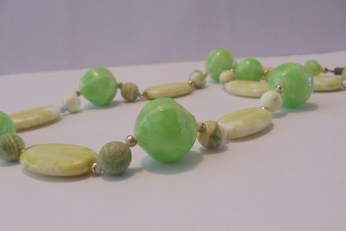 Vintage Green Handmade Necklace