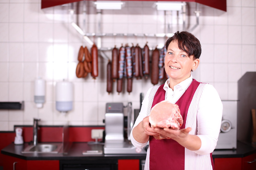 Mitarbeiterin der Fleischerei Dülfer in Neuruppin