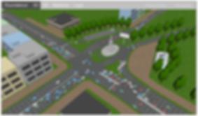 anylogic roundabout