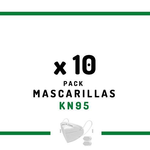 10 Mascarillas KN95