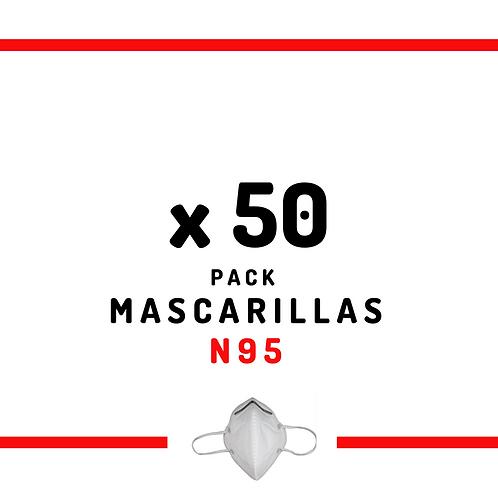 50 Mascarillas N95