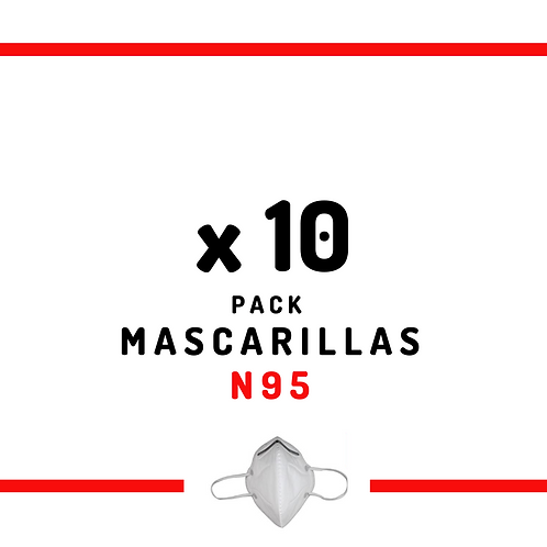 10 Mascarillas N95