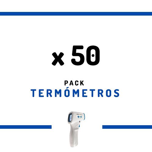 50 Termómetros Infrarrojos Sin Contacto