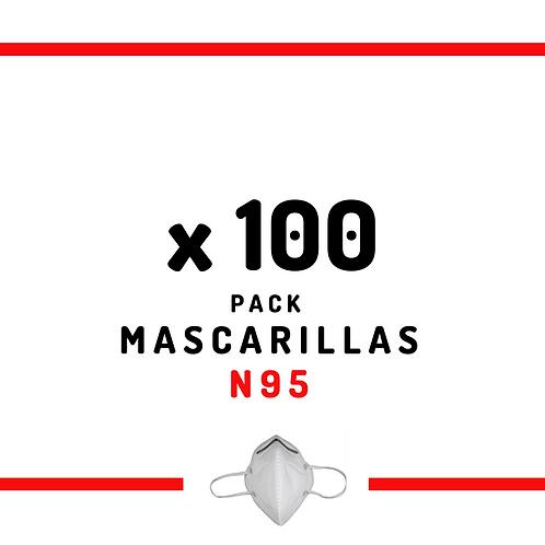100 Mascarillas N95