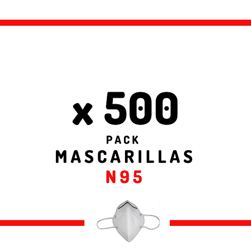 500 Mascarillas N95