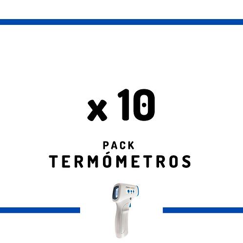 10 Termómetros Infrarrojos Sin Contacto