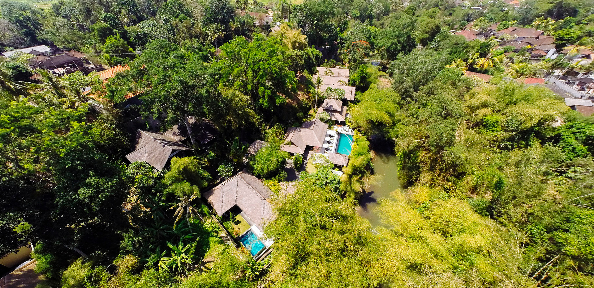 20-Villa Maya Retreat - Aerial above mas