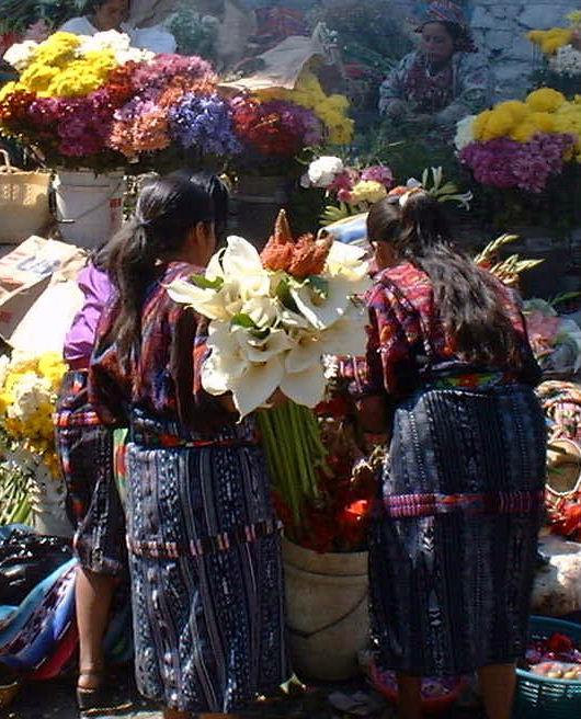 Guatamalan flower market