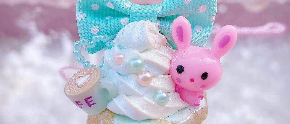 Dreamy Cupcake Bunny Necklace