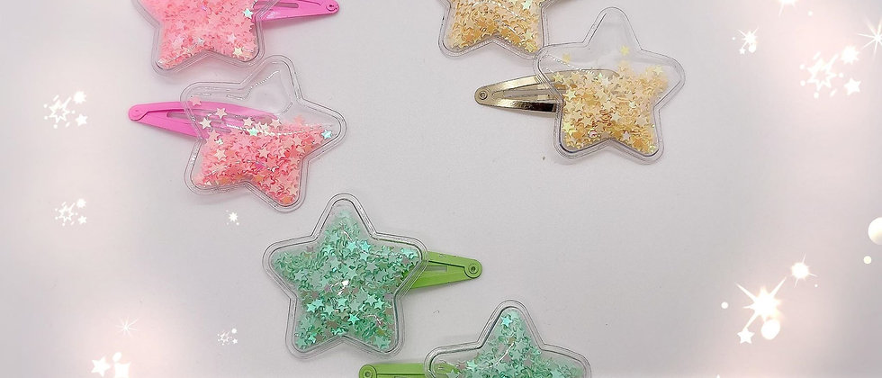 Star Shaker Barrettes
