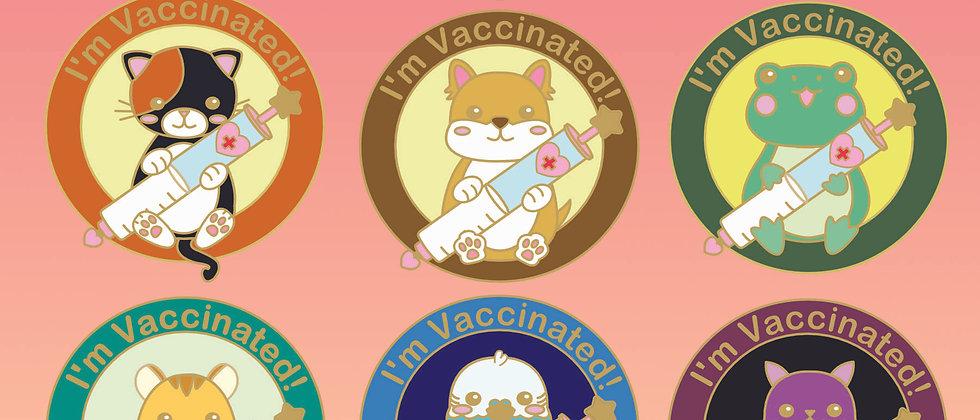 Vaccinated Village Enamel Pin