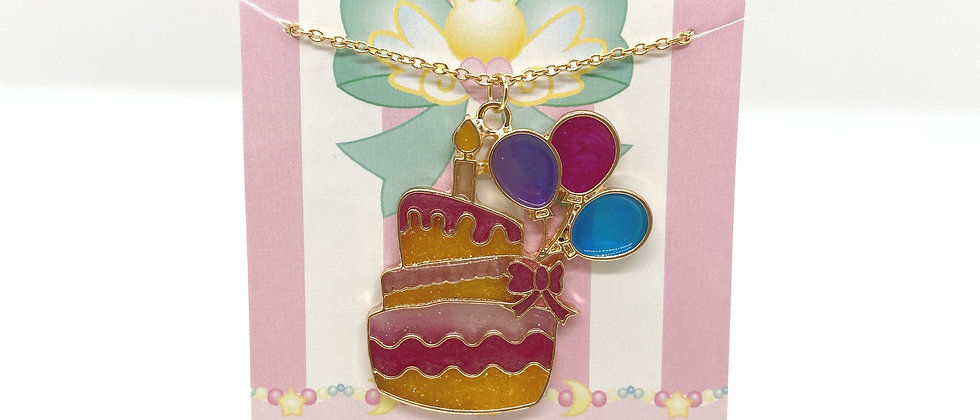 Birthday Cake Bezel Necklace