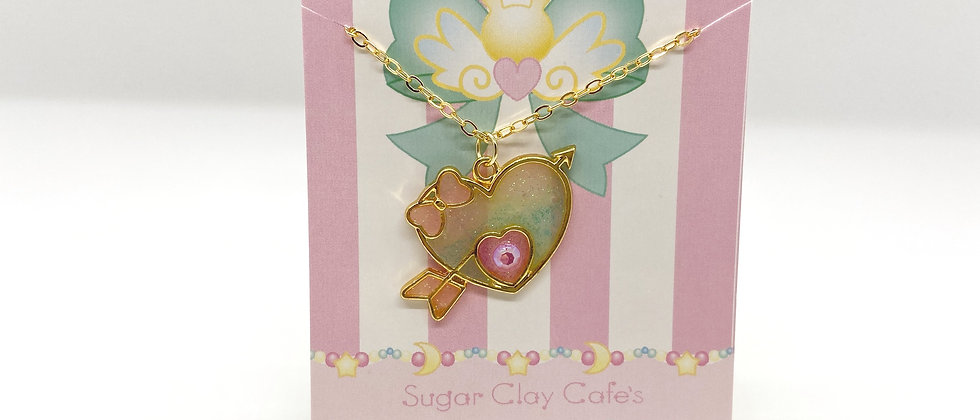 Cupid Heart Bezel Necklace